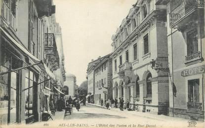 "CPA FRANCE 73 "" Aix les Bains, L'Hôtel des Postes et la Rue Daval"""