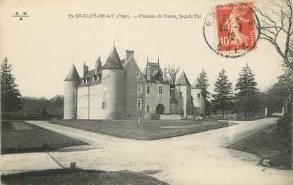"""/ CPA FRANCE 18 """"Saint Eloi de Gy, château de Dame"""""""