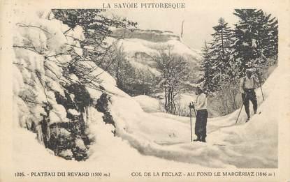 "CPA FRANCE 73 ""La Feclaz, Le Plateau du Revard"" / SKI"