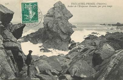 "/ CPA FRANCE 29 ""Tregastel Primel, rocher de l'empereur Romain"""