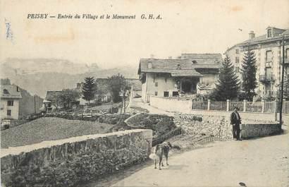 """CPA FRANCE 73 """"Peisey, Entrée du village et le monument aux morts"""""""