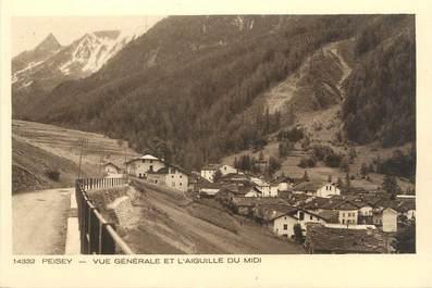 """CPA FRANCE 73 """"Peisey , Vue générale et l'Aiguille du Midi"""""""