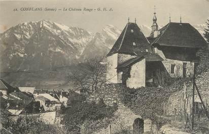 "CPA FRANCE 73 ""Conflans, Château Rouge"""
