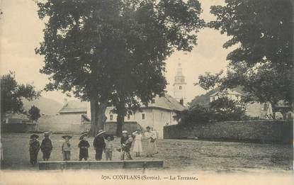 "CPA FRANCE 73 ""Conflans, La terrasse"""