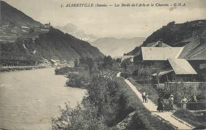 """CPA FRANCE 73 """" Albertville, Les bords de l'Arly et le Charvin"""""""