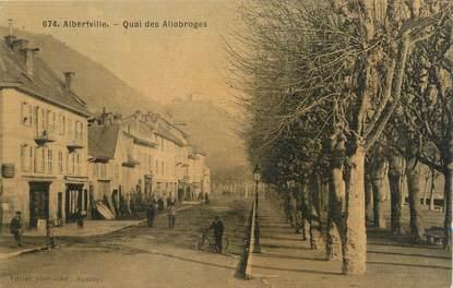 "CPA FRANCE 73 "" Albertville, Quai des Allobroges"""