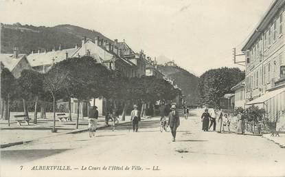 """CPA FRANCE 73 """" Albertville, Le Cours de l'Hôtel de Ville"""""""