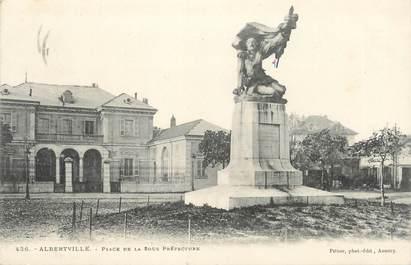 """CPA FRANCE 73 """" Albertville, Place de la Sous Préfecture"""""""
