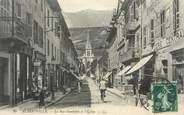 "73 Savoie CPA FRANCE 73 "" Albertville, Rue Gambetta et l'église"""