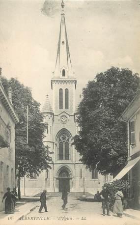 """CPA FRANCE 73 """" Albertville, L'église"""""""