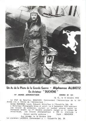"CPSM AVIATION "" Soldat Duchène Aviateur Mitrailleur"""