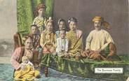 """Asie CPA BIRMANIE """"Famille birmane"""""""