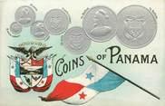 """Theme CPA ARGENT MONNAIE """"Panama""""/ Carte en relief"""