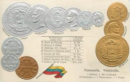 """CPA ARGENT MONNAIE """"Le Vénézuela""""/ Carte en relief"""