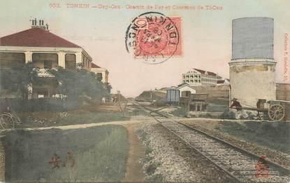 "CPA VIETNAM ""Tonkin, Dap Cau, chemin de fer et casernes de Ti Cau"""