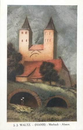 "CPA ILLUSTRATEUR HANSI ""Murbach en Alsace"""