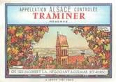 "Illustrateur CPA / ETIQUETTE / ILLUSTRATEUR HANSI ""Traminer Réserve en Alsace"""