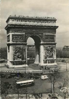 """CPSM BUS 75 """" Paris, L'Arc de Triomphe"""""""