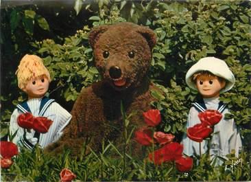 """CPSM SERIE TV ENFANT """" Bonne nuit les petits, Nounours Nicolas et Pimprenelle au jardin"""""""