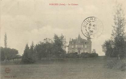 """CPA FRANCE 38 """"Porcieu, Le château"""""""