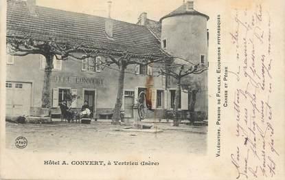 "CPA FRANCE 38 ""Vertrieu, Hôtel A. Convert"" / CACHET AMBULANT"