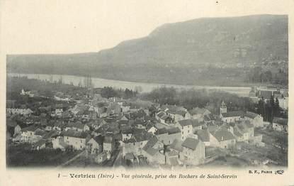 """CPA FRANCE 38 """"Vertrieu, Vue générale prise des Rochers de St Servin"""""""