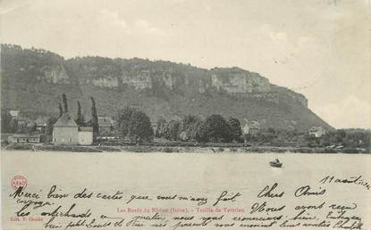 "CPA FRANCE 38 ""Vertrieu, Les bords du Rhône"""