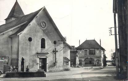 """CPSM FRANCE 38 """" Apprieu, Place de l'église"""""""
