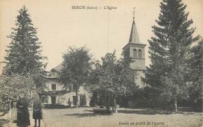 "CPA FRANCE 38 "" Burcin, L'église"""