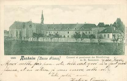 """/ CPA FRANCE 67 """"Rosheim, couvent et pensionnat des Bénédictines du Saint Sacrement"""""""