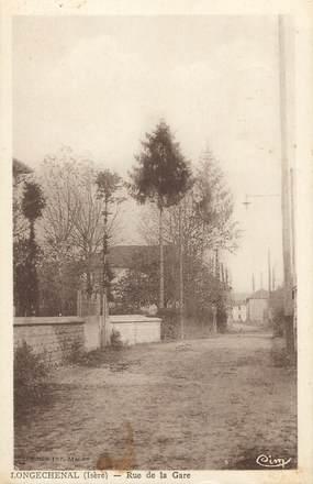 """CPA FRANCE 38 """"Longechenal, Rue de la Gare"""""""