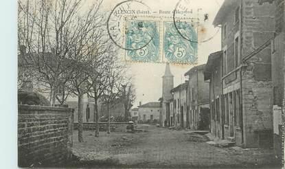"CPA FRANCE 38 "" Valencin, Route d'Heyrem"""