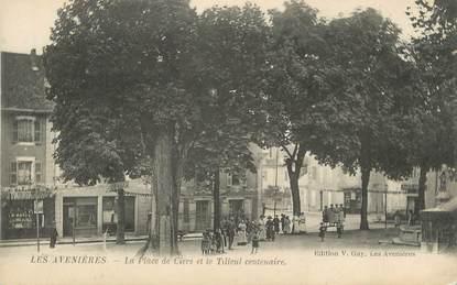"""CPA FRANCE 38 """" Les Avenières, La Place de Ciers et le tilleul centenaire"""""""