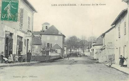"""CPA FRANCE 38 """" Les Avenières, Avenue de la Gare"""""""