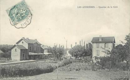 """CPA FRANCE 38 """"Les Avenières, Quartier de la Gare"""""""