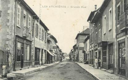 "CPA FRANCE 38 ""Les Avenières, La Grande Rue"""