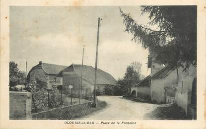 """CPA FRANCE 38 """"Olouise le Bas, Place de la Fontaine"""""""