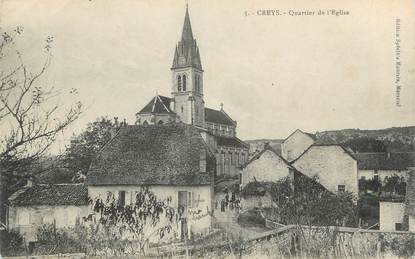 "CPA FRANCE 38 ""Creys , Quartier de l'Eglise"""