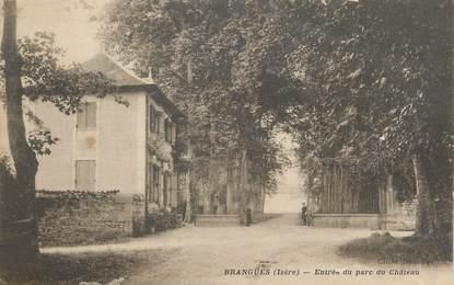 """CPA FRANCE 38 """"Brangues, Entrée du parc du château"""""""