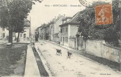 "CPA FRANCE 38 ""Montalieu, La grande rue"""