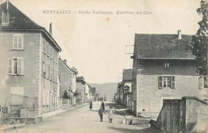 """CPA FRANCE 38 """"Montalieu, Route Nationale Quartier du Clos"""""""