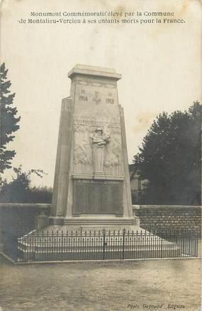 """CARTE PHOTO FRANCE 38 """"Montalieu, Le monument aux morts"""""""