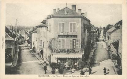 """CPA FRANCE 38 """" Morestel, La Place Route de Lyon et d'Arandon"""""""