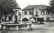 """38 Isere CPSM FRANCE 38 """" Sermerieu, La Mairie , la fontaine et le monument aux morts''"""