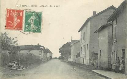 "CPA FRANCE 38 "" Diémoz, Route de Lyon"""