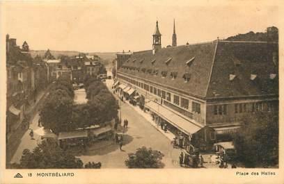 """CPA FRANCE 25 """"Montbéliard, place des halles"""""""