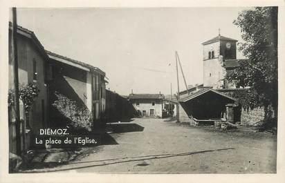 """CPSM FRANCE 38 """" Diémoz, La Place de l'Eglise"""""""