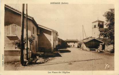 """CPA FRANCE 38 """" Diémoz, La Place de l'Eglise"""""""