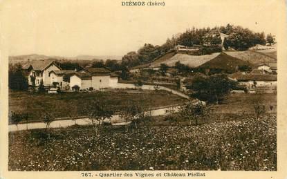 """CPA FRANCE 38 """" Diémoz, Quartier des Vignes et Château Piellat"""""""