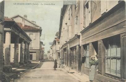 """CPA FRANCE 38 """" Le Grand Lemps, La Grande Rue"""""""